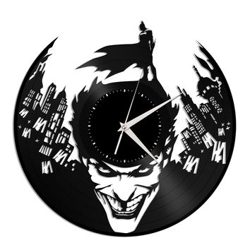 Batman Joker Vinyl Wall Clock