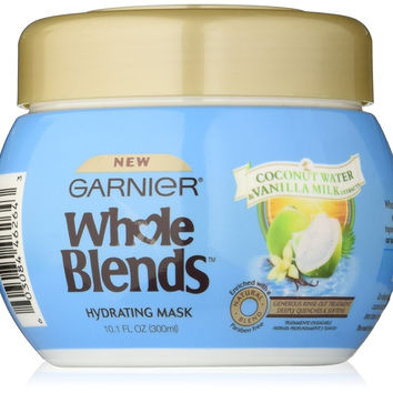 Garnier Whole Blends Coconut Water and Vanilla Mask. For Dry Hair, Hydrating, Paraben-Free, 10.1 fl. oz.