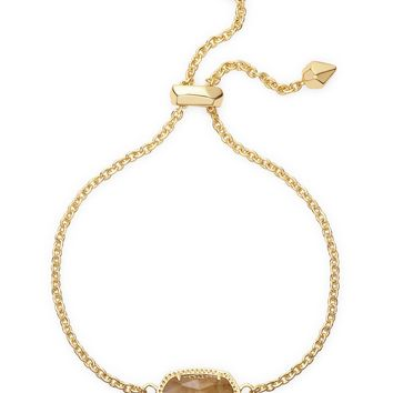 Kendra Scott Elaina Orange Citrine Quartz Gold Adjustable Bolo Bracelet