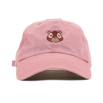 Kanye West The College Dropout Bear Pink Dad Hat