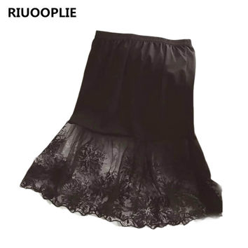 Women Lace Slip Skirt Extender Knee Length Floral Underskirt Petticoat Skirt