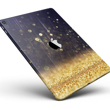 """Raining Gold and Purple Sparkle Full Body Skin for the iPad Pro (12.9"""" or 9.7"""" available)"""