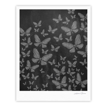 "Snap Studio ""Butterflies III"" White Chalk Fine Art Gallery Print"