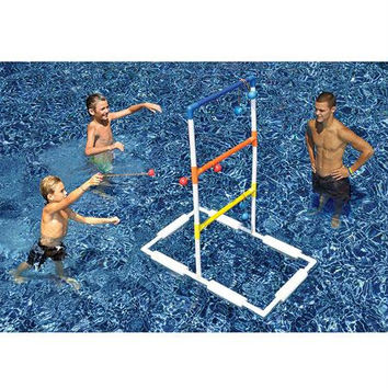 Swimming Pool Ladder Ball Game - Soft Bolo Balls Included