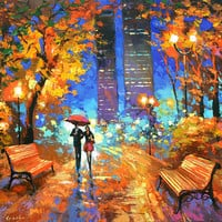 Nocturnal fragrance - oil Painting on canvas. Dmitry Spiros. abstract oil painting, oil painting landscape, canvas painting canvas wall art