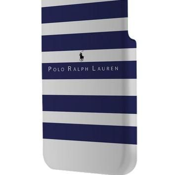 Best 3D Full Wrap Phone Case - Hard (PC) Cover with Polo Ralph Lauren Blue White Strip