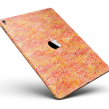 "Orange Watercolor Leopard Pattern Full Body Skin for the iPad Pro (12.9"" or 9.7"" available)"