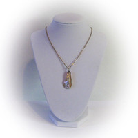 Vintage Gold Plated and Mineral Bead Necklace
