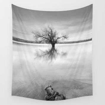 """Roots and trees..."" BW Wall Tapestry by Guido Montañés"