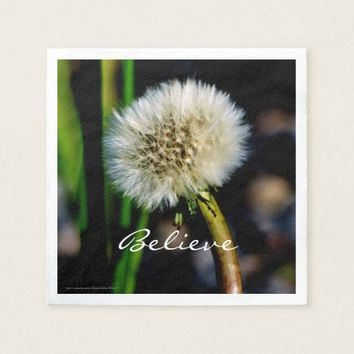 Make a Wish, Believe, Dandelion Napkin