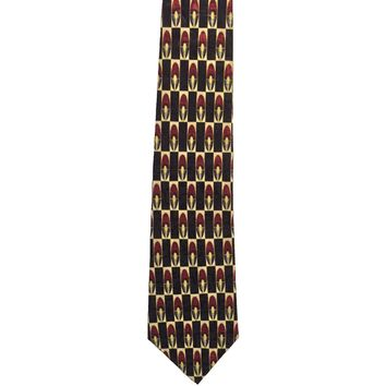 Countess Mara Foulard Wide Silk Tie - Black