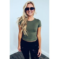 Restock: The Staple Tee: Olive