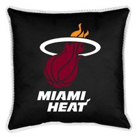 Sports Coverage Miami Heat Sideline Pillow in Black - 02JSSDL2HEA1818