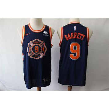 New York Knicks 9 Rowan Barrett Jr Navy City Edition Swingman Jersey
