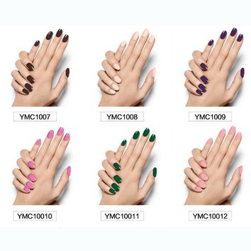 Nail polish all stickers green pregnant women available solid color YMC series of 16 stickers-1