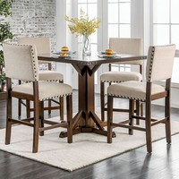 Glenbrook Brown Cherry And Ivory Counter Height Dining Table