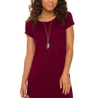 Got It Bad Dress - Burgundy