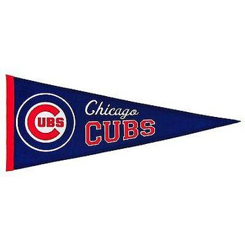 Vintage Chicago Cubs Traditions MLB Wool Pennant FREE US SHIPPING