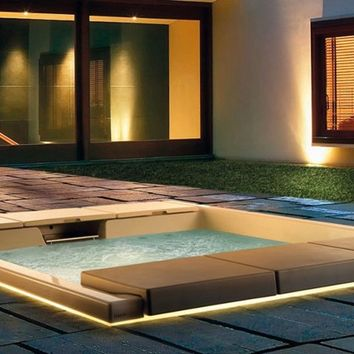 Hydromassage built-in mini pool spa HYDROSPA SEASIDE 640 Hydrospa Collection by TEUCO GUZZINI | design Talocci Design