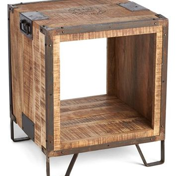 Indigo Imports Open Center Wood Side Table - Brown
