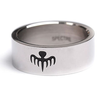 Spectre James Bond Movie 007 Replica Titanium Steel Ring for Men Jewelry Size 8-11 best for Movie Fans
