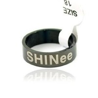 Kpop Titanium Ring SHINee(black)