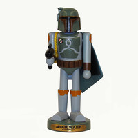Santa's Little Helper Collection 10-Inch Star Wars Boba Fett Nutcracker