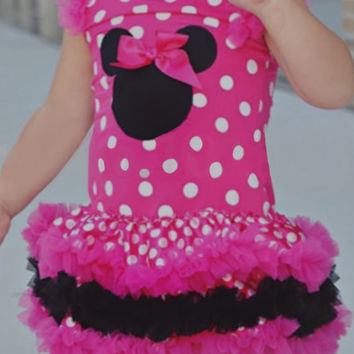 Infant Toddler Baby Girl Dress Minnie Mouse Pink InfantToddler Cupcake Dress Tutu Birthday Dress Baby