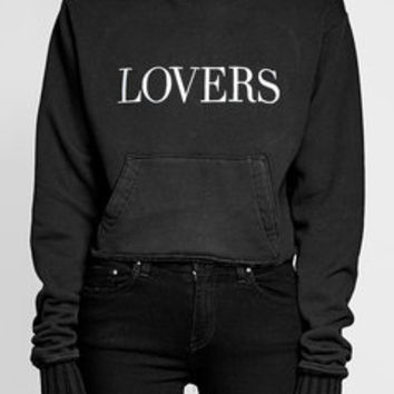 Lovers Printed Cotton Hoodie - Amiri | WOMEN | US STYLEBOP.COM