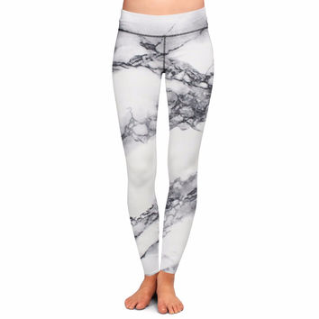 Dmart7deal Custom Made Marble Colors 3D Sublimation Print Milk Silk Ninth Leggings Fitness Workout Pants Plus Size