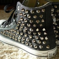 DCCK1IN studded black high top converse