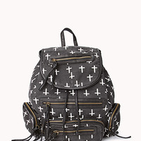 Cool Cross Print Backpack