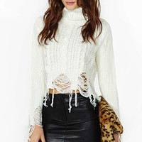 Raw Deal Faux Leather Skirt
