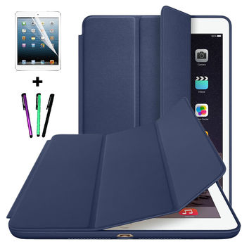 For iPad Air 2 Smart Cover Stand Case For Apple iPad Air 1 iPad 5/ iPad 6 With Wake up Dormancy + Screen Protector + Stylus pen