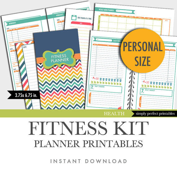 graphic relating to Fitness Printables identified as Health and fitness Planner Inserts Individual Dimensions Printable Foodstuff Diary Work out Log 3.75 x 6.75 inside of. Prompt Obtain