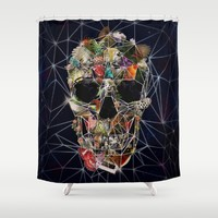 Fragile Skull Shower Curtain by Ali GULEC