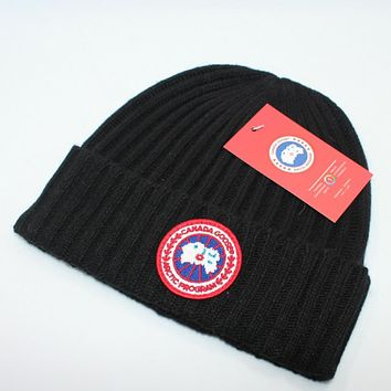 Perfect  Canada Goose Fashion Edgy  Winter Beanies Knit Hat Cap