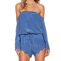 Winston White Chile Romper in Blue