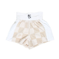 BOXED ANGEL BOXING SHORTS WOMEN / BEIGE