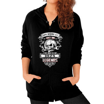 The birth of legends 1975 Zip Hoodie (on woman)