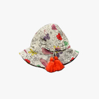 Arsene et Les Pipelettes Gatinel Bird Print Hat - E15A-C01 - FINAL SALE