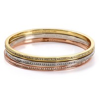 kate spade new york Pavé Bangles, Set of 3 | Bloomingdales's