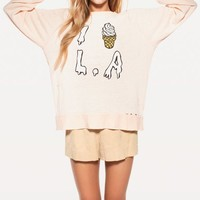I SCREAM L.A. DESTROYED SWEATER at Wildfox Couture in  DIONNE
