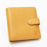 AUTHENTIC LOUIS VUITTON PORTE BIEN COMPACT WALLET M63559 YELLOW GRADE B USED- AT