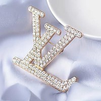 8DESS LV Louis Vuitton Women Fashion Diamonds Stud Earring Jewelry