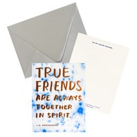 True Friends Friendship Art Card