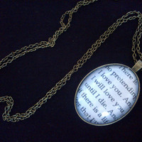 The Mortal Instruments Quote Necklace by GracieBlossoms on Etsy