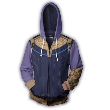 Deadpool Dead pool Taco The Avengers 3 Superhero Hoodies  2 Ant-Man Thanos Iron Man Daily Zipper Coat Outfit Tops Casual Sweatshirt AT_70_6