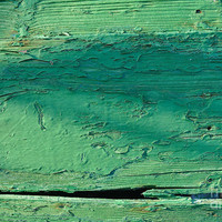 Green Wooden Boat Surface