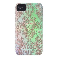 Damask Wildflowers, PARTY LIGHTS Iphone 4 Id Covers from Zazzle.com